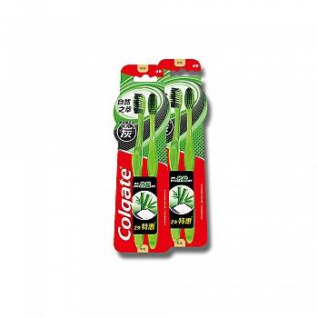 高露洁(Colgate)自然之萃竹盐炭(松盐)牙刷两支特惠装*2(多款颜色,随机发货)