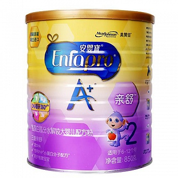 美国•美赞臣安婴宝A+亲舒乳蛋白部分水解较大婴儿配方粉850克罐装