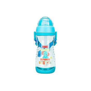 费雪儿童便携吸管水杯粉蓝色
