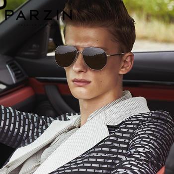 帕森尼龙偏光太阳镜男士金属大框司机驾驶镜潮墨镜蛤蟆镜新品8173