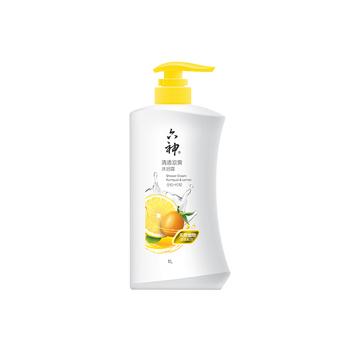 中国•六神清透凉爽沐浴露(金桔+柠檬)1L