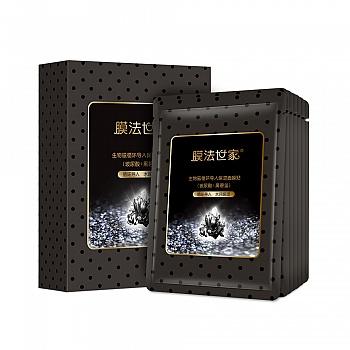 中国•膜法世家生物磁循环导入保湿面膜贴(玻尿酸+黑碧玺)(25ml/片*7片)