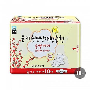 韩国•恩芝纯棉日用卫生巾(250mm/10P)