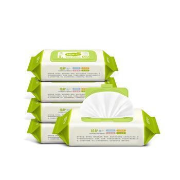 中国•植护婴儿湿巾纸带盖80抽*5包