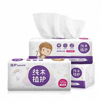 中国•植护 婴儿抽纸专用宝宝抽纸巾3包