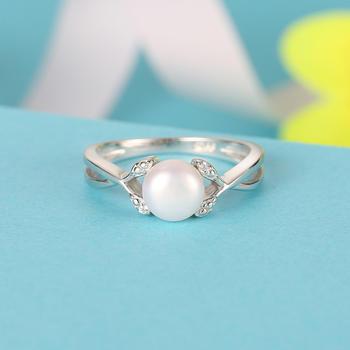 925银淡水珍珠戒指 幸福萦绕