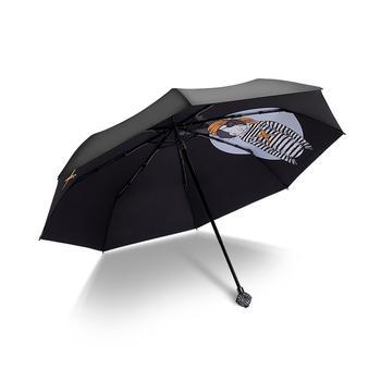 德国iRain三折创意卡通防晒晴雨伞