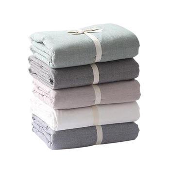 慕斯维水洗棉床笠 单件纯棉床单