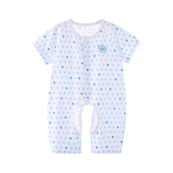 巧尼熊婴儿连体衣服夏季薄纯棉
