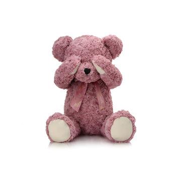 柏文熊领结害羞熊公仔毛绒玩具可爱玩偶泰迪熊女80cm