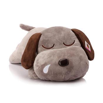 柏文熊趴趴酣睡狗玩偶靠枕大头狗毛绒玩具狗狗58cm