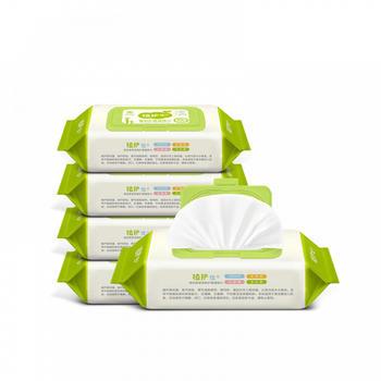 植护 婴儿湿巾纸带盖80抽*5包
