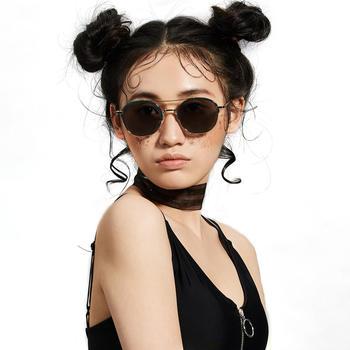 音米圆框墨镜女新款太阳镜女