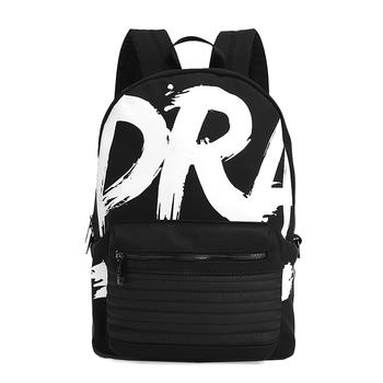 DRA字母涂鸦印花复古潮牌双肩包