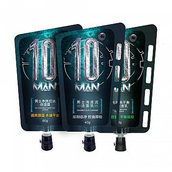中国•10度男士净爽祛痘套装(保湿露60g+祛痘洁面乳60g+海底泥洁面乳40g)