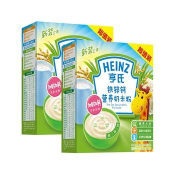亨氏铁锌钙营养奶米粉400g*2盒