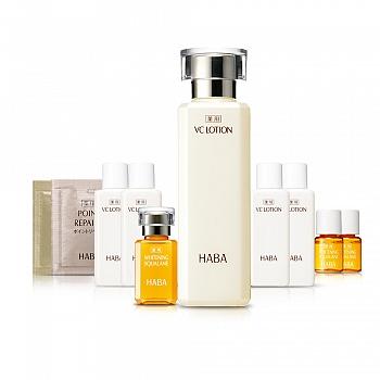 日本•HABA 沁润美白柔肤水油 10件套组
