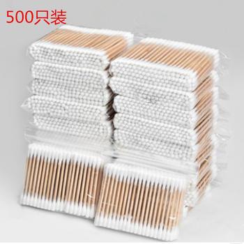 500支装一次性双头棉签 家用清洁