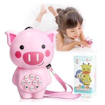 奥智嘉迷你小猪故事机早教玩具