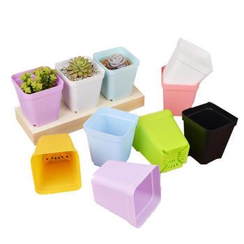态美 10个装配托盘塑料迷你小花盆