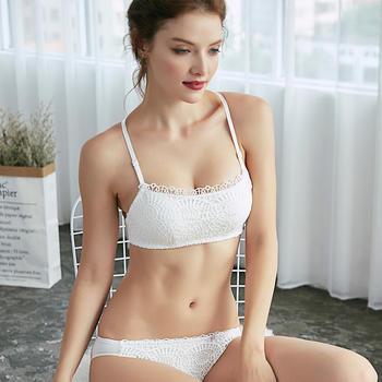 维妮芳云锦纱罗性感抹胸文胸套装