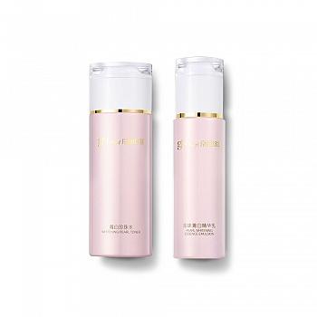 京润珍珠(gnpearl)珍珠菁白水乳两件套(菁白珍珠水120ml+珍珠菁白精华乳80g)