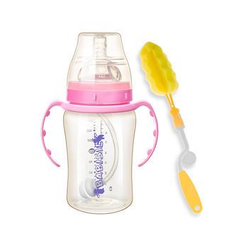 贝儿欣宽口径吸管PPSU奶瓶耐摔耐磨防胀气220ml