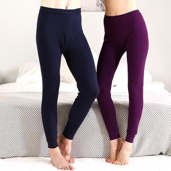 红豆男女纯棉单件薄款保暖裤