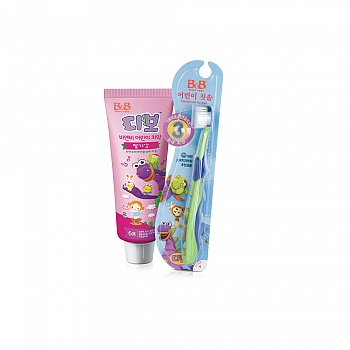 保宁口腔类套装(幼儿牙膏 草莓香型*1+儿童牙刷 第三阶段*1)