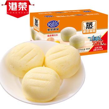 港荣蒸蛋糕 鸡蛋原味900g