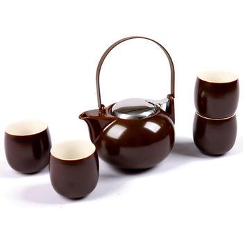 多样屋 现代茶具组礼盒-铁红
