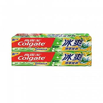 高露洁(Colgate)冰爽冷萃龙井牙膏120g*2