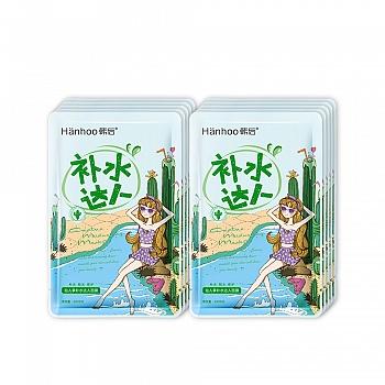 韩后(Hanhoo)仙人掌补水达人面膜22ml*10