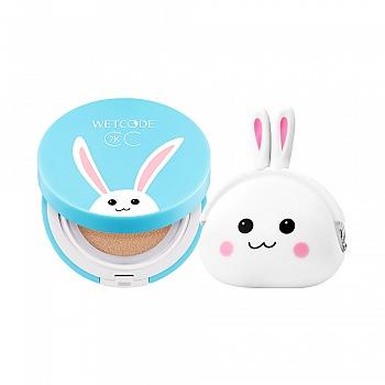 水密码口袋鲜萌水水兔套装(气垫CC霜15g(自然色)(赵丽颖参与设计水水兔限量版)+零钱袋)
