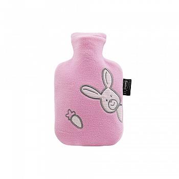 德国fashy绒面卡通绣花图案外套热水袋