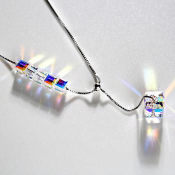戴拉  s925银时尚闪耀水晶项链