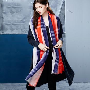 卡蒙围巾女羊毛披肩韩版大围巾