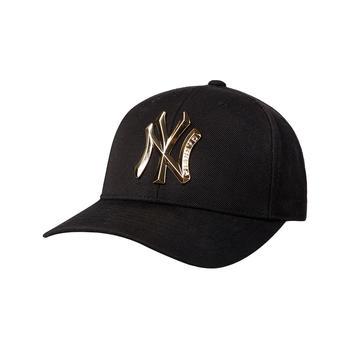 MLB棒球帽黑色铁标可调节帽子