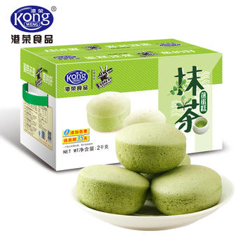 港荣蒸蛋糕 抹茶味2kg