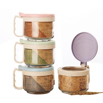 Ymer小麦厨房玻璃调味罐套装