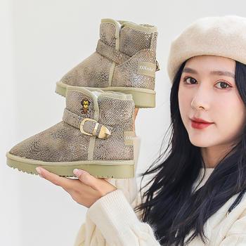 100KM猩猩猴 雪地靴女鞋加厚棉鞋