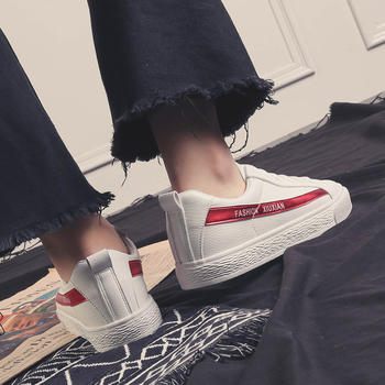娅莱娅春季新款百搭时尚PU小白鞋