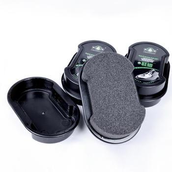 考比双面无色海绵皮鞋刷3个装