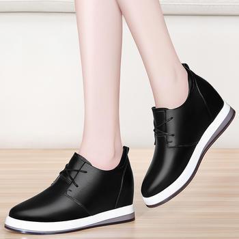 单鞋女韩版复古厚底软底百搭单鞋