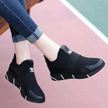 运动鞋女秋冬加?#34183;?#26262;一脚蹬棉鞋