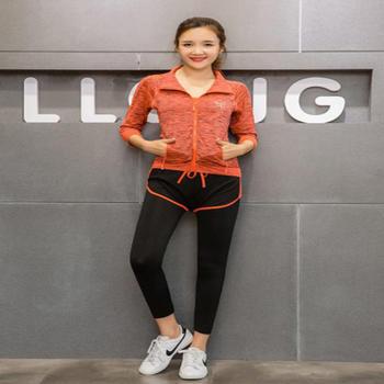 迈乔 运动塑形瑜伽服5件套装橙色