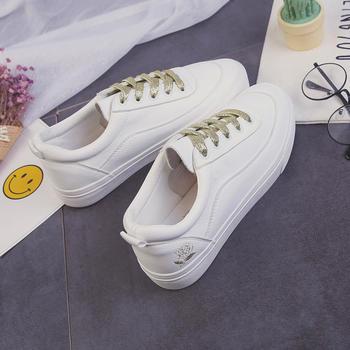 娅莱娅时尚百搭绣花韩版小白鞋