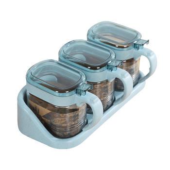 Ymer时尚加厚玻璃椭圆形调味罐