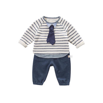 davebella春季新款男童条纹套装