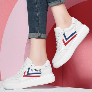 平底小白鞋板鞋女休闲松糕女鞋